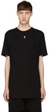 11 By Boris Bidjan Saberi Black Small Logo T-Shirt