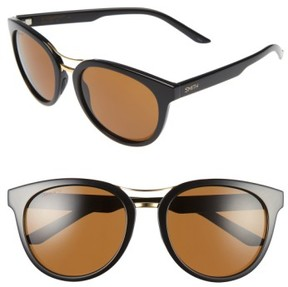 Smith Women's 'Bridgetown' 54Mm Aviator Sunglasses - Black/ Brown Polar