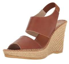 Andre Assous Womens Reese Leather Open Toe Casual Espadrille Sandals.