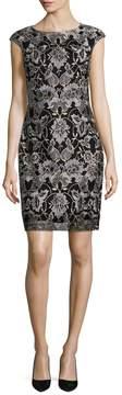 Donna Ricco Women's Embroidered Sheath Dress
