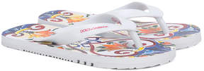 Dolce & Gabbana Majolica print flip-flops