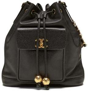 LUXE FINDS | Chanel Black Caviar CC Bucket Bag