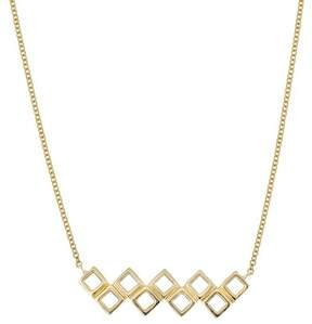 Bony Levy 14K Yellow Gold Open Square Bar Pendant Necklace