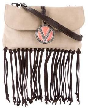 Valentino Suede Fringe Shoulder Bag