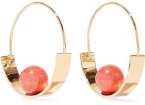 Ben-Amun Gold-Tone Stone Hoop Earrings