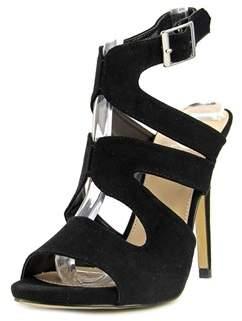 Diba Shiloh Women Open-toe Suede Black Heels.