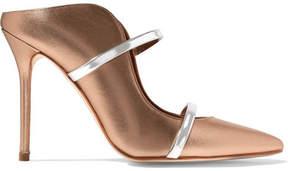 Malone Souliers Maureen Metallic Leather Mules - Gold