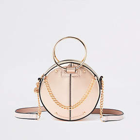 River Island Rose gold ring handle circle cross body bag