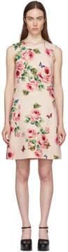 Dolce & Gabbana Pink Rose Dress