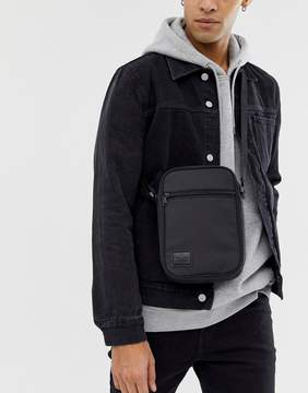 Asos Flight Bag In Black With Patch
