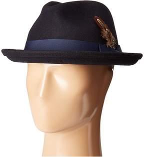 Stacy Adams Fedora with Matching Trim Fedora Hats
