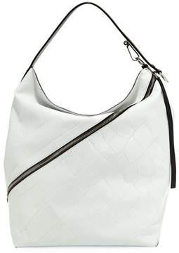 Proenza Schouler Large Croc-Embossed Leather Hobo Bag