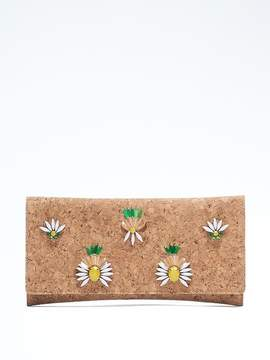 Embellished Cork Clutch