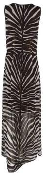 MICHAEL Michael Kors Women's Animal Print Maxi Dress (2, Chocolate)