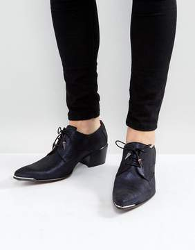 Jeffery West Sylvian Lace Up Shoes In Dark Navy