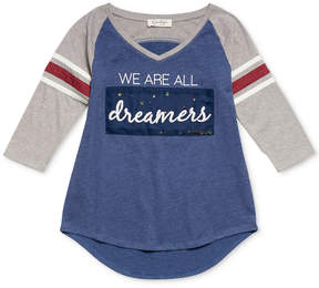 Jessica Simpson We Are All Dreamers 3/4-Sleeve T-Shirt, Big Girls (7-16)
