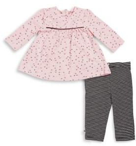 Offspring Baby Girl's Two-Piece Peplum Top and Pants Set