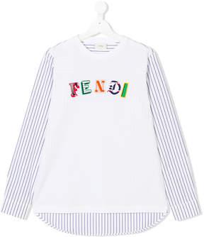 Fendi contrast T-shirt