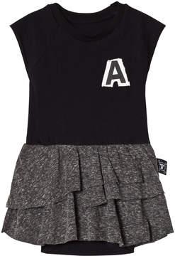 Nununu Black And Charcoal Grey Skirt Onesie