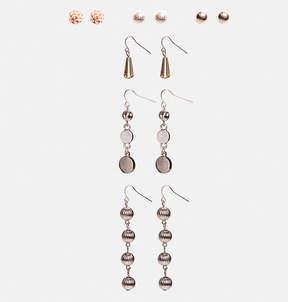 Avenue Rose Gold Linear Earring Set