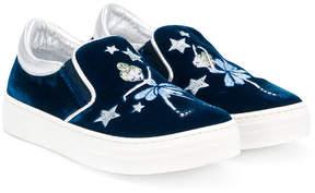 Simonetta embroidered slip-on sneakers