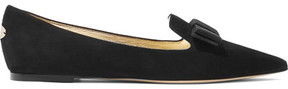 Jimmy Choo Gala Suede Point-toe Flats - Black