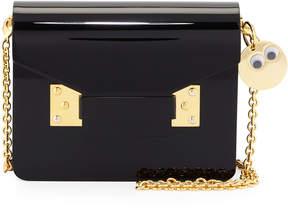 Sophie Hulme Acrylic Envelope Crossbody Bag, Black