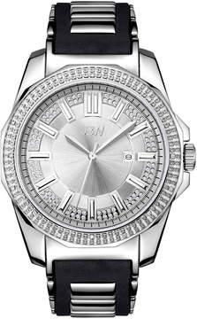 JBW Mens Diamond Accent Black Silicone Strap Watch