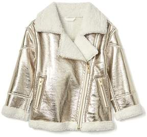 Gap Cozy metallic moto jacket
