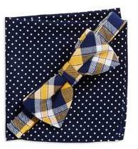 Lord & Taylor Boy's Adjustable Bow Tie And Pocket Square Set
