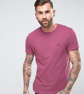 Jack Wills Elvaston Pique T-Shirt in Berry
