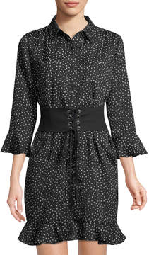 Collective Concepts Corseted Crepe Shirtdress