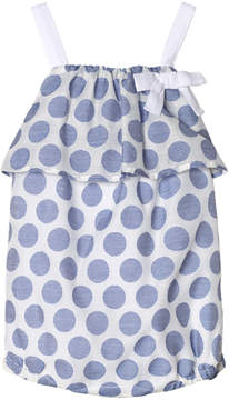 Absorba Blue and White Woven Spot Bubble