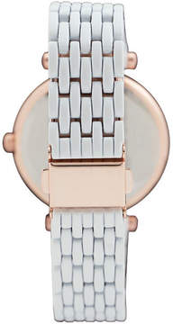 Geneva Platinum Womens White Bracelet Watch-1533