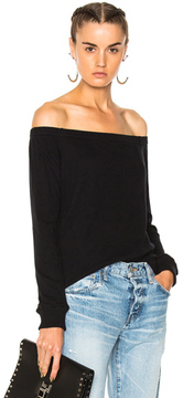 Enza Costa Off Shoulder Top in Black.