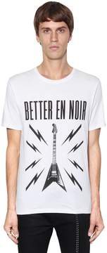 The Kooples Better En Noir Cotton Jersey T-Shirt