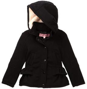 Urban Republic Faux Shearling Ruffled Hooded Coat (Little Girls)