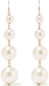 Kenneth Jay Lane Gold-plated Faux Pearl Earrings - White