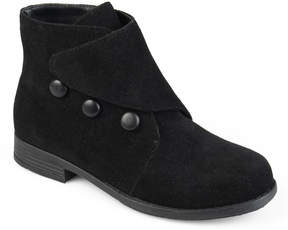 Journee Collection Black Rylan Ankle Boot