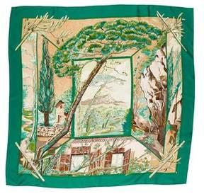 Hermes Promenade Au Pays De Cezanne Silk Scarf