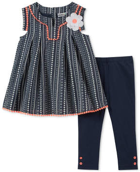 Kids Headquarters 2-Pc. Printed Tunic & Leggings Set, Little Girls