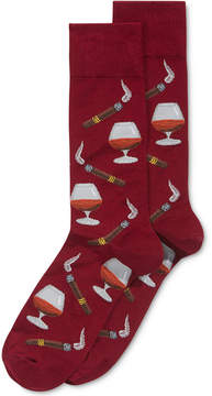 Hot Sox Men's Cognac-and-Cigars Socks