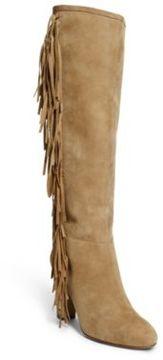 Ralph Lauren Vanida Suede Knee-High Boot Camel 5.5