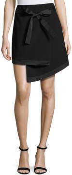 C/Meo Outgrown Bow-Belt Skirt, Black