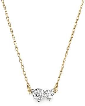 Adina 14K Yellow Gold Amigos Diamond Two Station Choker Necklace, 14