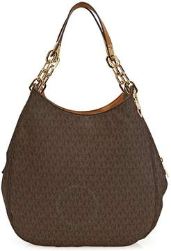 Michael Kors Fulton Large Logo Shoulder Bag - Brown - ONE COLOR - STYLE