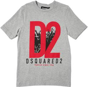 DSQUARED2 D2 Print Cotton Jersey T-Shirt