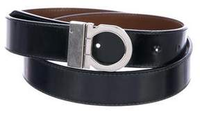 Salvatore Ferragamo Reversible Gancio Patent Leather Belt