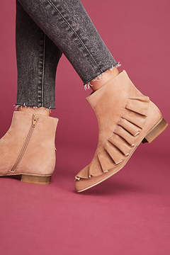 Anthropologie Ruffled Ankle Boots
