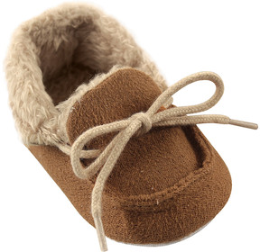 Luvable Friends Chestnut Fleece Moccasin - Boys